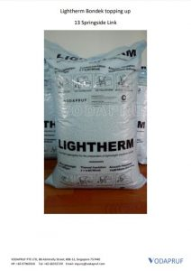 Lightherm Bondek Topping Up Application