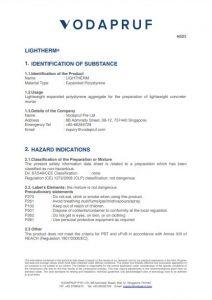 Lightherm Safety Data Sheet
