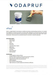 Product Data Sheet - vFlexi Cement Based Waterproofing